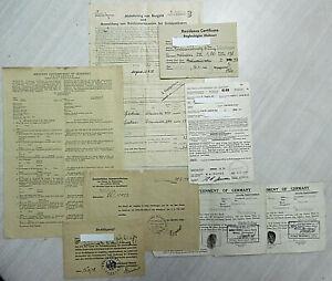 Seltener Dokumentennachlass aus Nachkriegszeit (amerik. Besatzungszone)