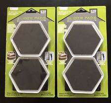 8 PIECE SET OF FURNITURE SLIDERS - PADS MOVERS PROTECTORS FOR WOOD CARPET TILE