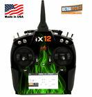 Spektrum iX12 Green Fire Skin Wrap Radio Transmitter Ultradecals