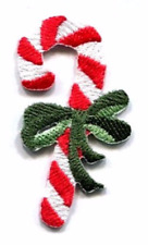CHRISTMAS CANDY CANE iron on patch applique