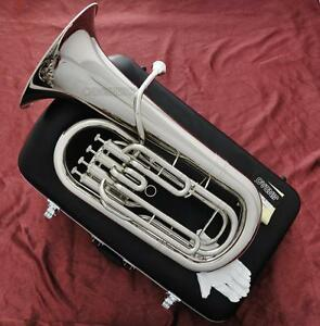 Professional JINBAO Silver nickel Plated Euphonium Hron 4 Piston With Case