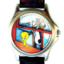 Tweety Bird & Sylvester Fossil 3-D Look, Warner Bros Collectible Watch! Just $99