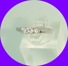 Lovely 3-Stone Diamond Ring-- Size 6.25