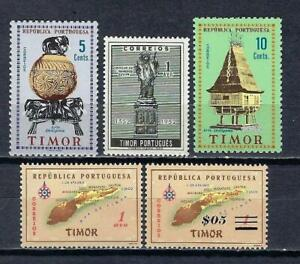 Portugal TIMOR (1) 5 timbres différents neufs