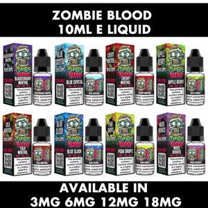 5 x 10ml Zombie Blood E Liquid Vape Juice 50/50 3MG 6MG 12MG & 18MG New Ecig UK