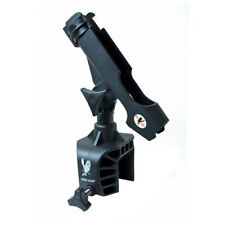 Clamp On Rod Holder by Eagle Claw Deluxe Aluminum 360 Swivel Bait Casting Black