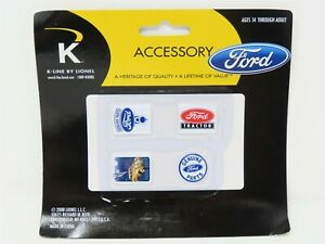 O Scale K-Line 6-22428 Ford Tin Sign Replica Scenery 4-Pack Sealed