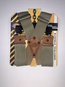 NEW! Dickies Industrial Strength Khaki Colored Suspenders With Ballistic Nylon