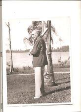 7x9 Type I photo Joe Tinker recovers from illness, 1937