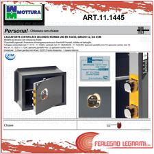 CASSAFORTE VERTICALE PERSONAL CHIAVE E COMBINAZIONE CM.49X37 ART 11.1445 MOTTURA