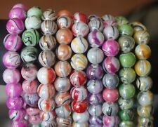 Girls Women Beaded Elastic Bracelets Multi-colour beads