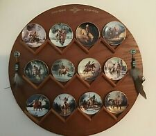 1997 Hamilton Collection Mystic Warrior Mini-Plates Wall Display Complete