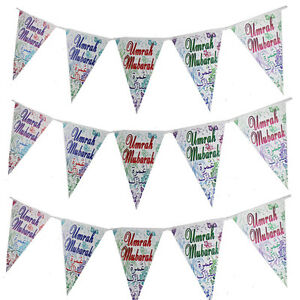 Umrah Mubarak Banner - Double Sided Extra Large Multi-coloured Umrah gifts