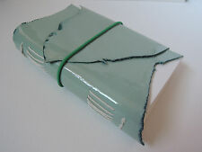 "4.5"" x 6"" Handmade Apple Green Leather Watercolor Sketchbook / Journal"
