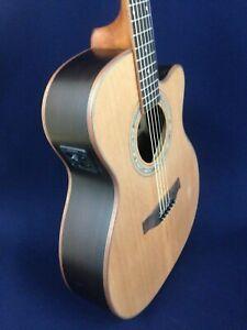 Klema Solid Cedar Top Small Jumbo Electric-Acoustic Guitar,EQ+Free Bag.K300JC-CE