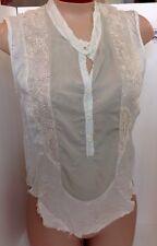 Allegro Sheer Top Beige Silk And Lace  Xsml(matching Skirt)