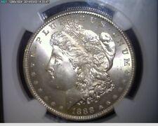 1888-S Morgan Silver Dollar  - NGC MS 65 Blast White Gem!!