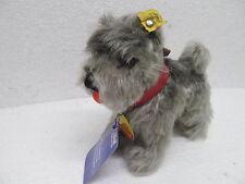 MES-39055 Alter Steiff Hund Tessie H:ca.13cm mit Knopf und Schild,