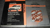 1990 TOYOTA TERCEL Service Shop Repair Manual Set 90 FACTORY DEALERSHIP