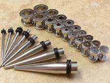 24pc Steel Screw Fit Tunnels/Tapers 0g,2g,4g,6g,8g,10g,12g,14g Stretch Kit (p66)