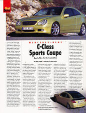 2001 Mercedes Benz C230 Sport Coupe - First Drive -  Classic Article M3113-A42-B