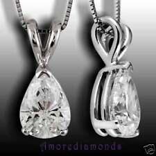 14k white gold cowboy western fine necklaces pendants ebay 034 ct gia e vs pear shape natural diamond solitaire pendant 14k white gold 16 aloadofball Choice Image