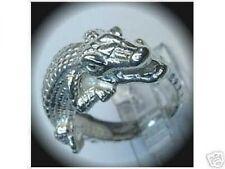 2082 Authentic Genuine Sterling Silver .925 Alligator Ring Crocodile Jewelry