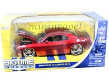 JADA 92033 BIGTIME 2008 08 DODGE CHALLENGER SRT8 1/24 RED with STARS WHEELS