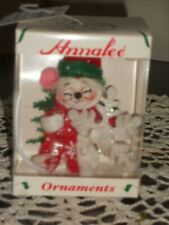 """New Vintage Annalee Collectible Christmas Ornament 3"""" Mouse Hold Snowflake 2008"""