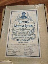 Dexter Knitting Cotton 20 Unused Spools in Original Box 1910s