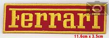 FERRARI LOGO EMBROIDERED IRON ON SEW ON PATCH - BADGE LOGO UK Seller