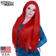 "Prism Hair - Lace Front Yaki Straight 32"" - Red- 00588 Wig USA"
