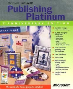 Microsoft Picture It! Publishing Platinum 5th Anniversary Edition in box