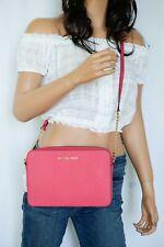 NWT Michael Kors Jet Set Item East West Crossbody Leather Bag Electric Pink