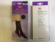 Silky medium support, flight socks Comfort socks, 40 denier, knee high, one size