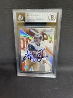 2003 SPx Football Card #13 Kurt Warner Signed Beckett Slabbed