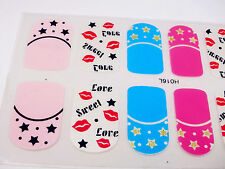 Quick Easy DIY Nail Art Sticker Party Stick On Summer Nail Manicure Waterprint