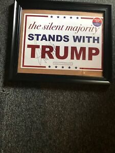 Donald Trump Autographed Campain Poster