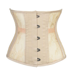 Breathable Lace Underbust Corset Steel Boning 25cm Waist Trainer Body Shaper