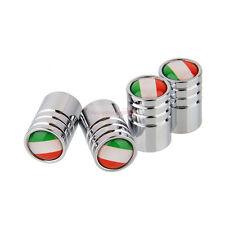 4pcs Italy IT Metal Wheel Hub Air Tyre Tire Stems Valve Caps Cap Fiat Maserati