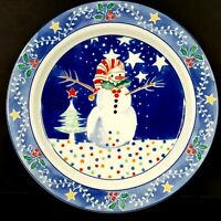 Epoch Mr Snowman 4 Christmas Dinner Plates 10.75 inch More Pieces Available