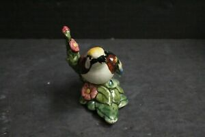 Arts Crafts Stangl Pointing Bird Flower Art Pottery Figurine