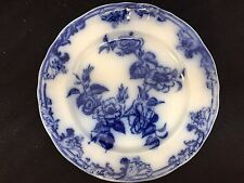 "PETRUS REGOUT & CO FLOW BLUE AUROREA  8 3/8""  PLATE FLOWERS"