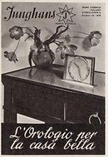 Z3749 JUNGHANS l'orologio per la casa bella  - Pubblicità d'epoca - 1940 old ad