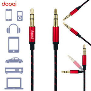 3.5mm to 3.5mm Car AUX Audio Nylon Braided Cord Cable For PC iPod Car Phone