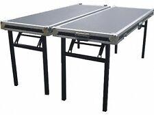2 Tische in Case-Ausführung TB-1 m. Rollen DJ Klapptisch 160 x 60 cm Casetisch