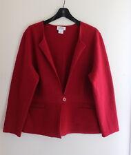 Talbots -Elegant Sz PXL P XL Petites RED Boiled 100% Wool Sweater Coat
