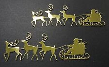 Santa & His Reindeer Die Cut - Pkt 6