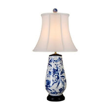 """Chinese Blue and White Porcelain Vase Bird Motif Table Lamp 31"""""""