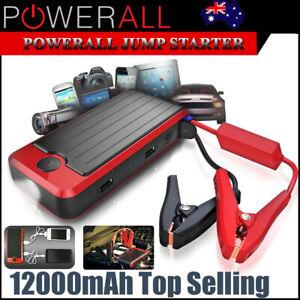 PowerAll Deluxe PBJS12000-RD Portable Power Bank, Jump Starter, LED Flashlight